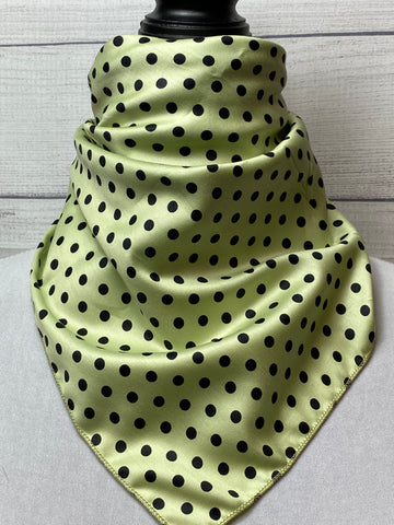 The Green Polka Dot Cotton Bandana