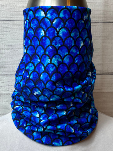 The Blue Scales Lycra Neck Gaiter