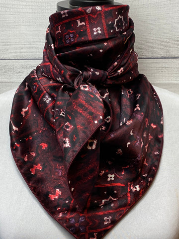 The Burgundy Vintage Bandana Silk Large Rag