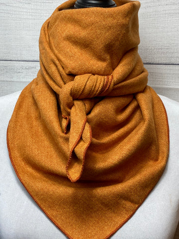 Spice Orange Cotton Flannel Bandana
