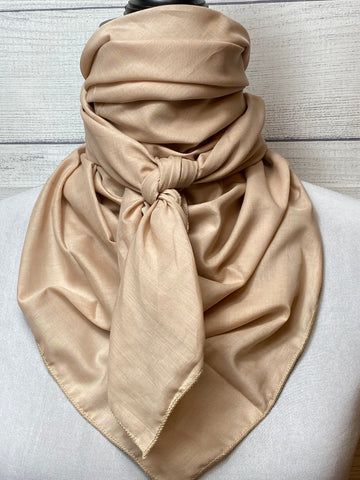 Solid Khaki Cotton Voile Rag
