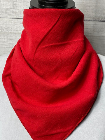 Solid Red Cotton Gauze Neckerchief
