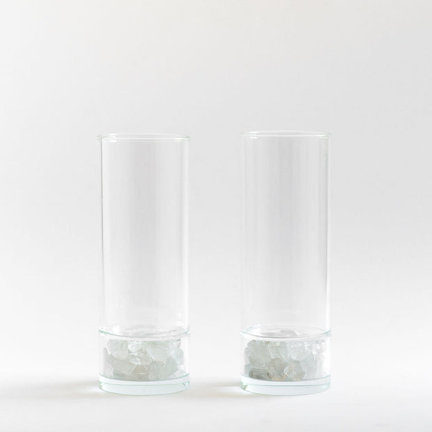 Glass Set Clear Quartz