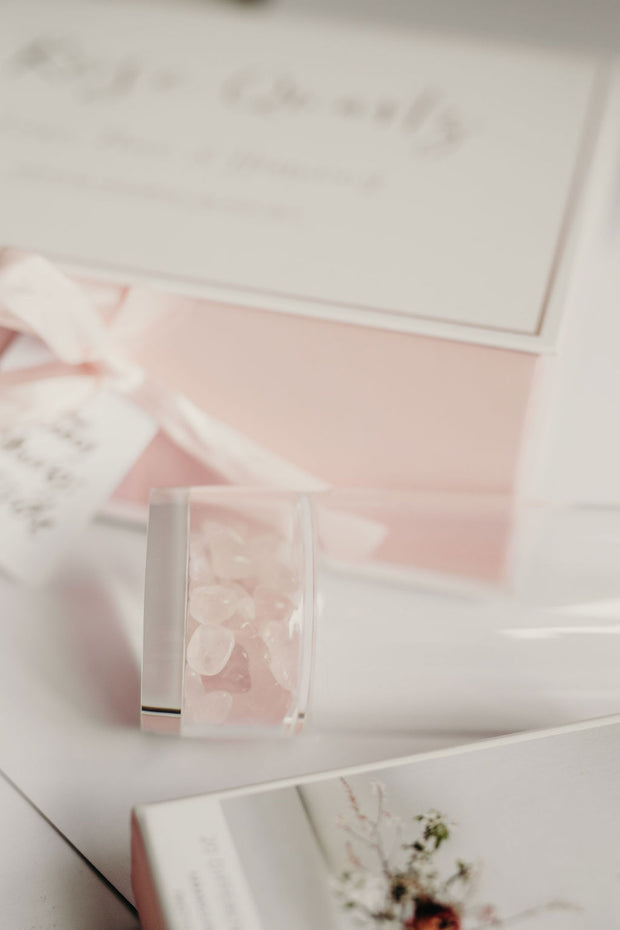 Crystal Highball Gift Set - Rose Quartz