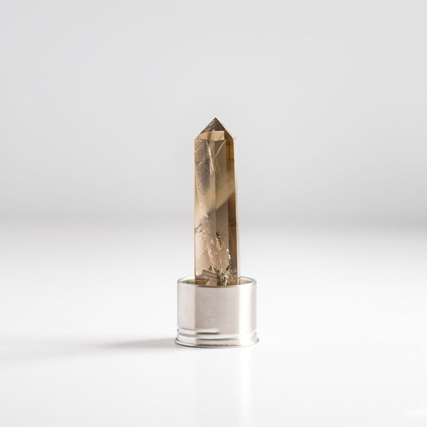 Smoky Quartz Crystal Water - Steel
