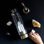 Clear Quartz Crystal Water - Steel