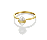 Tiny Calm Crystal Ring