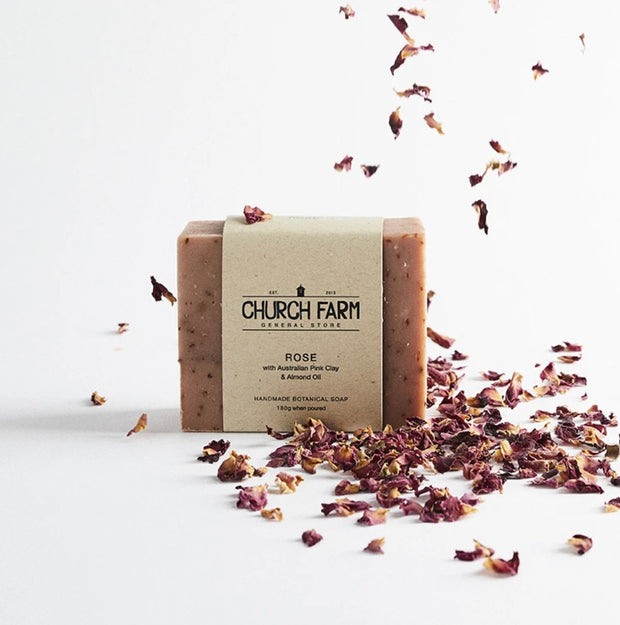 Church Farm Soap - Rose, Pink Clay & Almond Oil