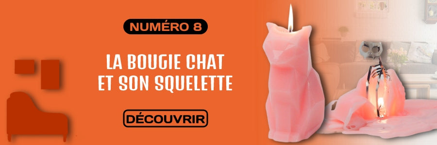 bougie chat squelette