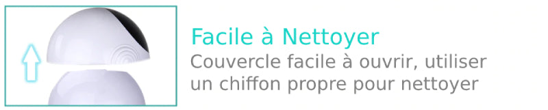 Distributeur facile à nettoyer