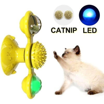 Moulin Chat Catnip boule led