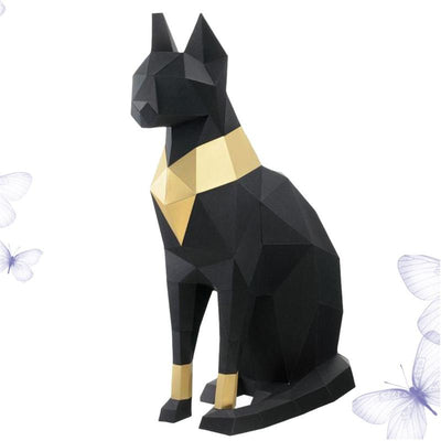 Statue Chat Egyptien Origami XXL