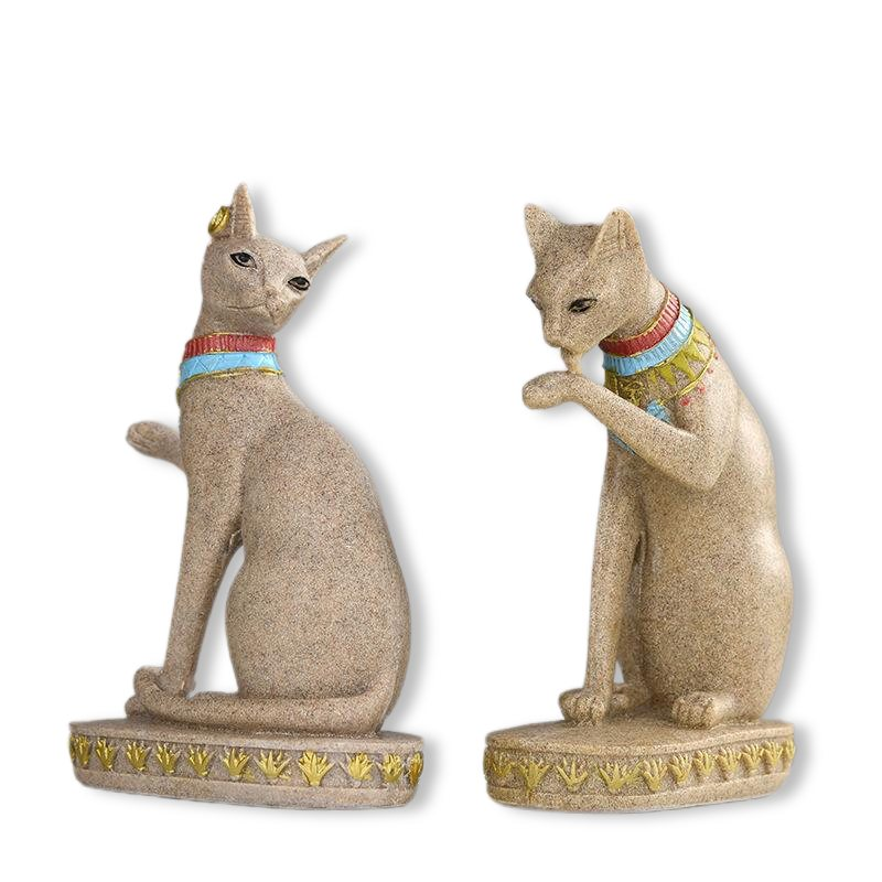 Statue de Chat Egyptien en Grès