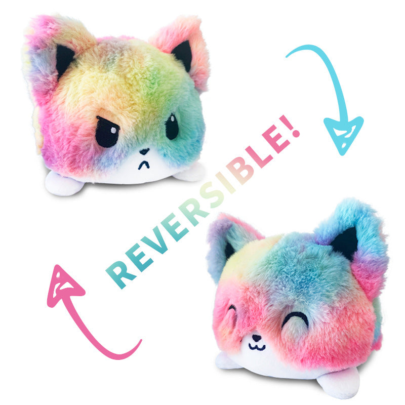 Peluche Réversible Chat Rainbow