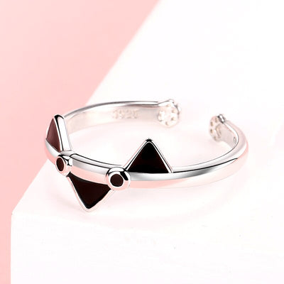 Bague Chat Cartoon (Argent) - Vraiment-chat