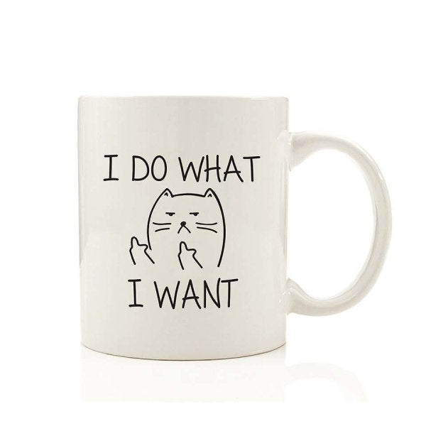 Mug Chat I Do What I Want - Vraiment-chat