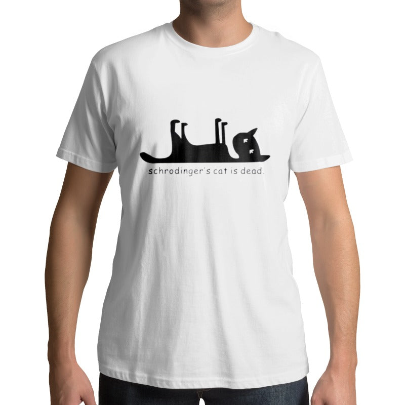 T-Shirt Chat Schrodinger CAT IS DEAD | vraiment-chat