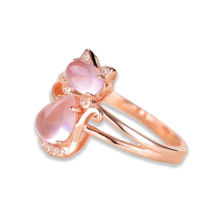 Bague Chat en Or Rose | vraiment-chat