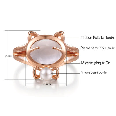 Bague Chat Noeud Papillon Or | vraiment-chat