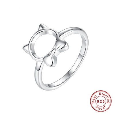 Bague Chat Smoking (Argent) - Vraiment-chat