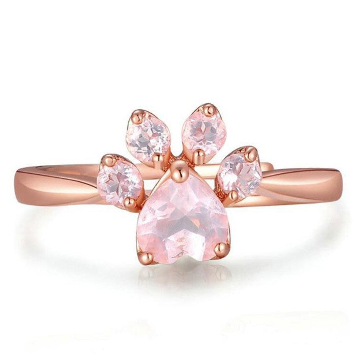 Bague Empreinte de Patte Chat Rosideria