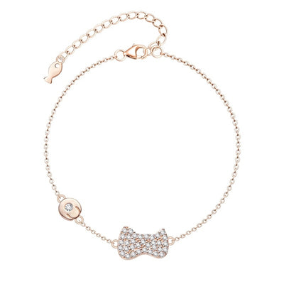 Bracelet Chat Patte et Poisson