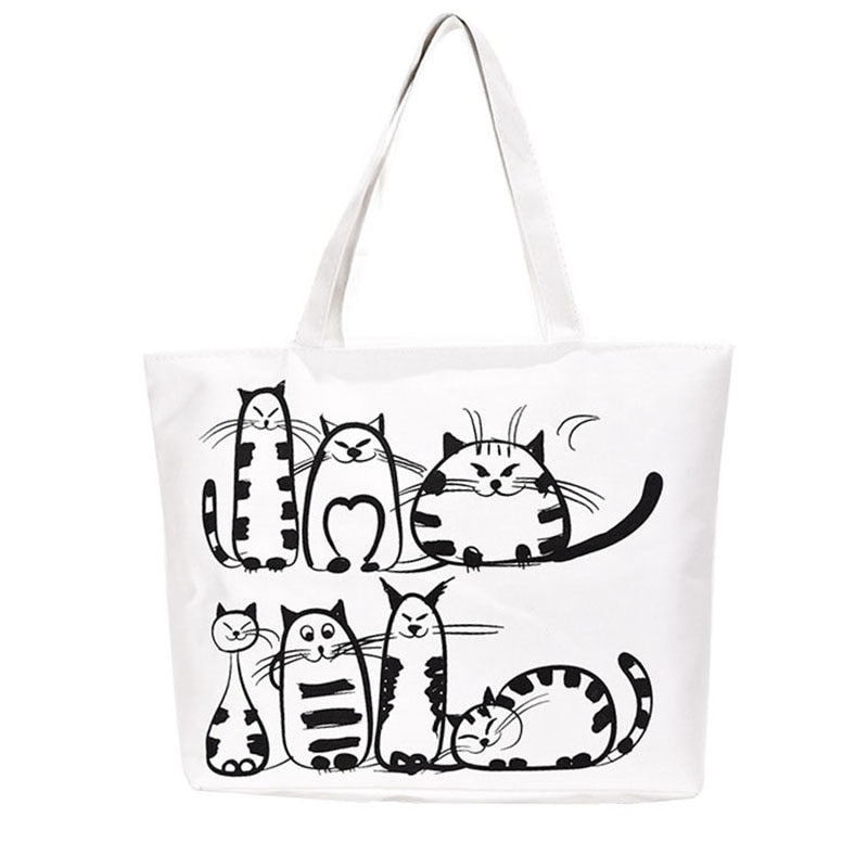 Tote bag Chat <br/>Sachac