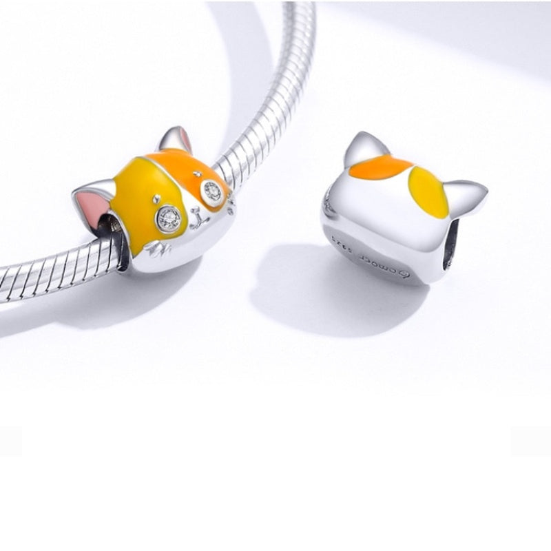 Charm Chat Jaune et Orange