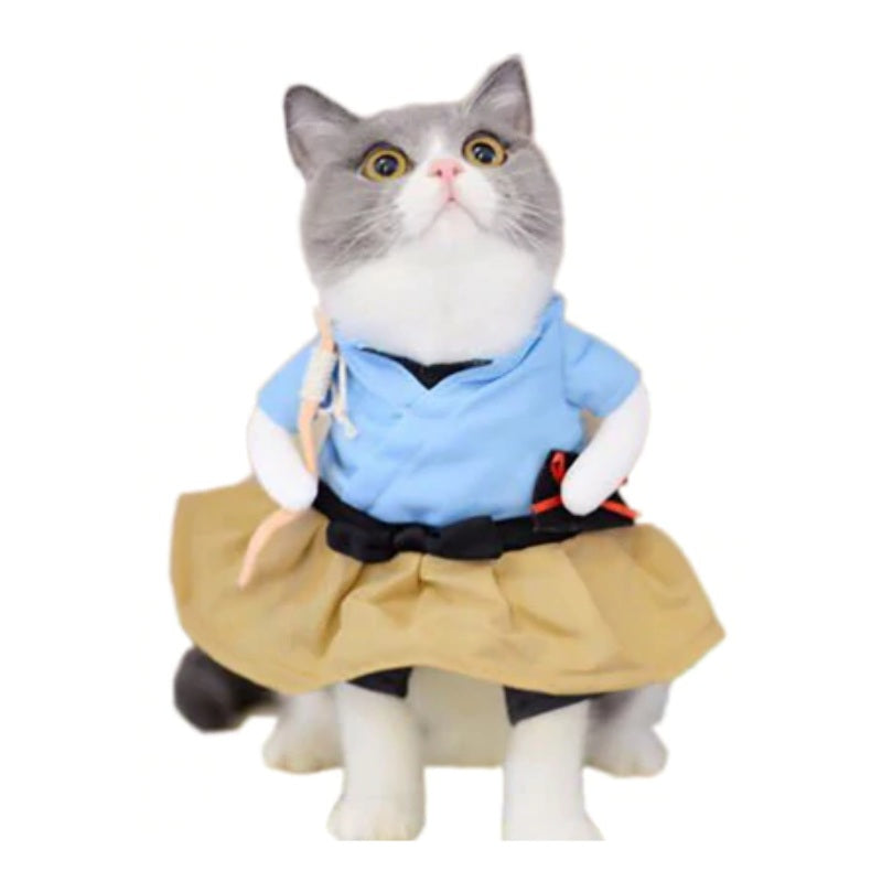 Déguisement chat fille en Uniforme