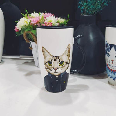 Grand Mug à café Chat | vraiment-chat