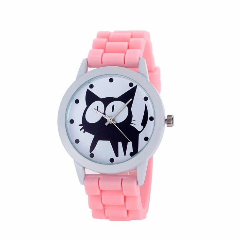 Montre Chat en Silicone