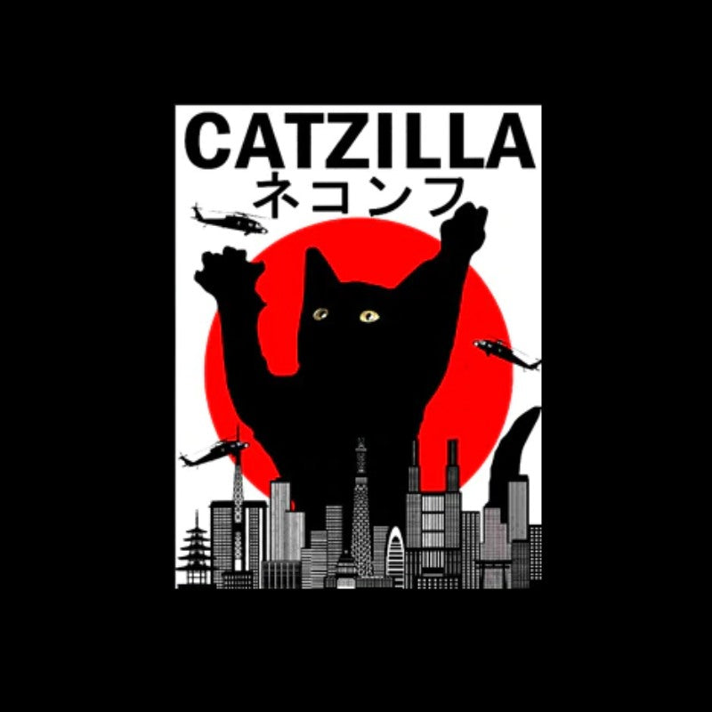 T-Shirt Chat Catzilla