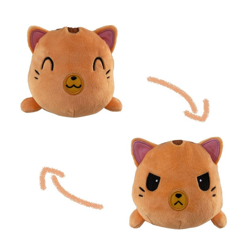 Peluche Réversible Chat Tabby