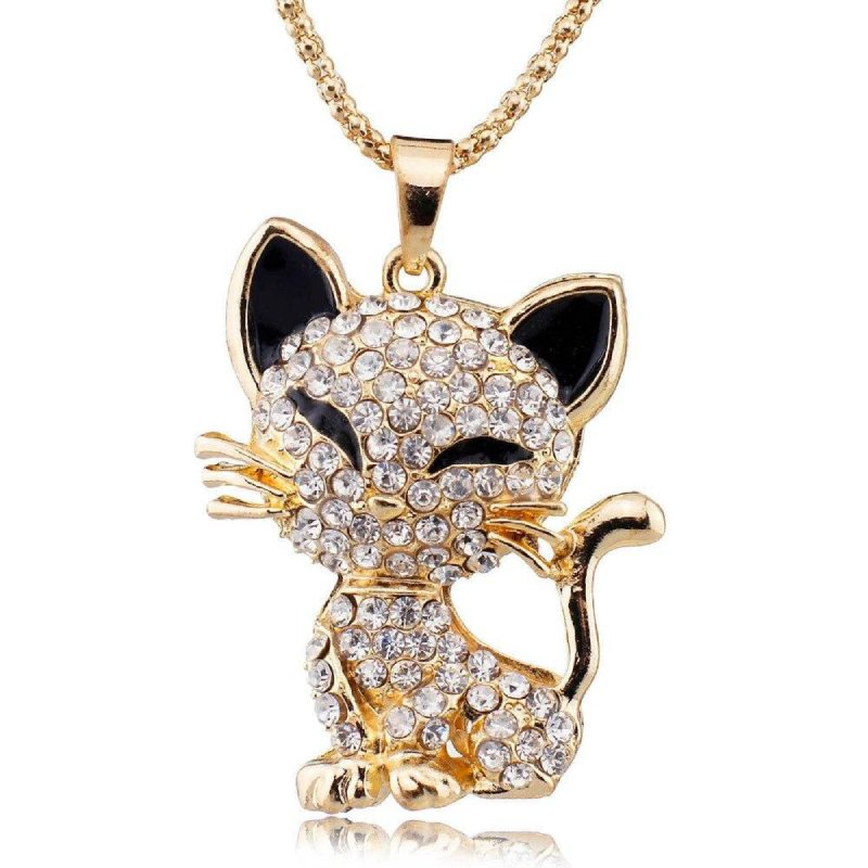 Pendentif Chat Or Souriant