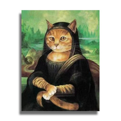 Poster Chat Mona Lisa | vraiment-chat