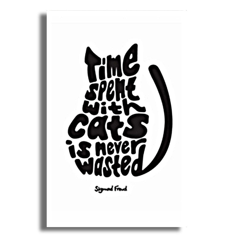 Poster chat noir Sigmond Freud