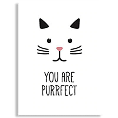 poster mural chat you are purrfect | vraiment-chat