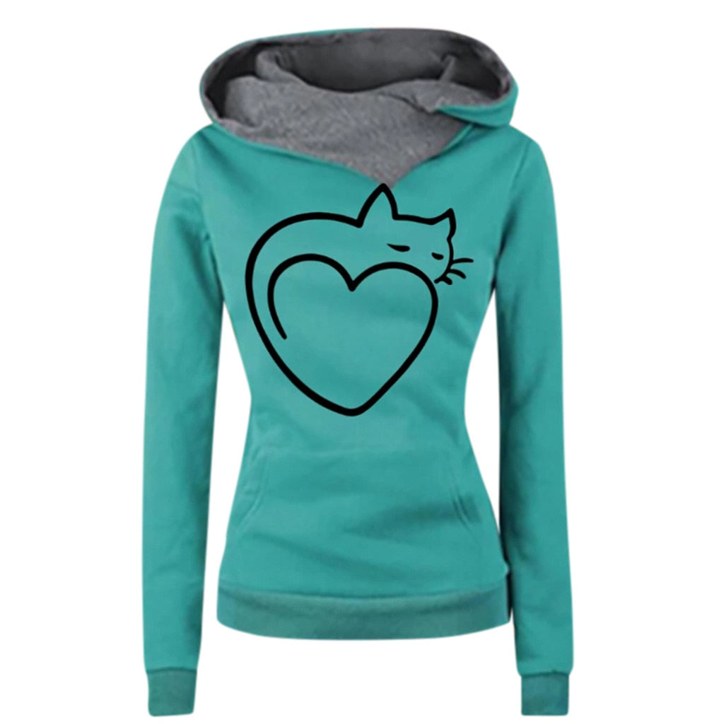 Sweat-shirt Coeur de chat