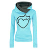Sweat-shirt Coeur de chat | vraiment-chat