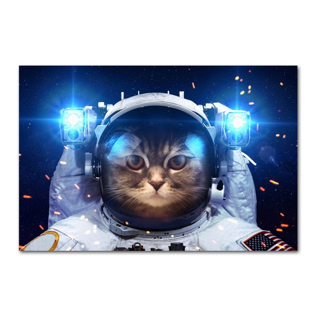 Grand poster Chat Astronaute | vraiment-chat