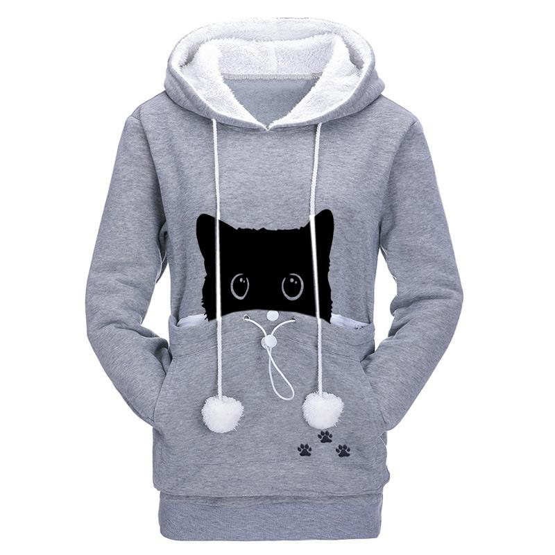 Sweat à poche ventrale pour Chat