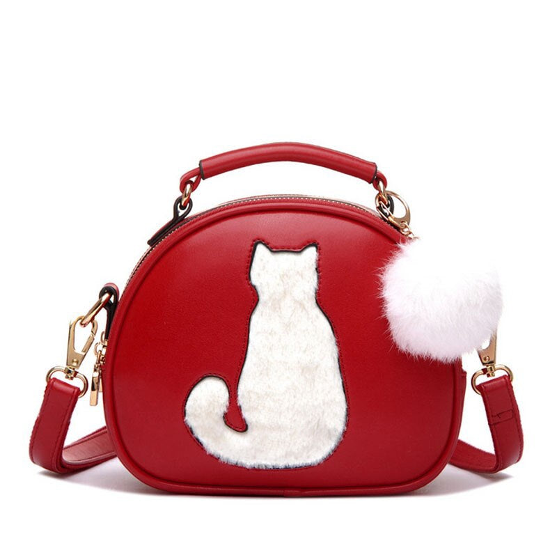 Sac à Main à Motif Chat Furry