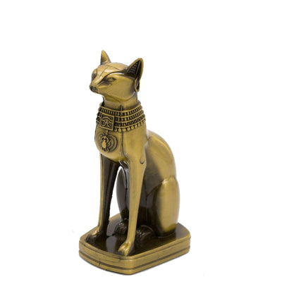 Statue de Chat Egyptien en Métal