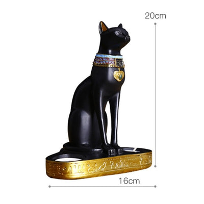 Statue de Chat Egyptien Porte Bougie | vraiment-chat