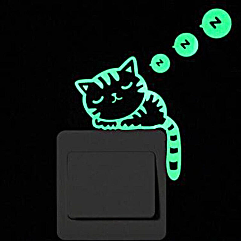Sticker Chat Mural Fluorescent - Vraiment-chat