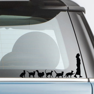 Sticker chat pour voiture CAT LADY | vraiment-chat