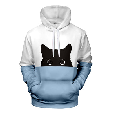 Sweat shirt Chat Bicolore Unisexe | vraiment-chat
