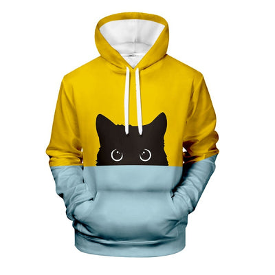 Sweat shirt Chat Bicolore Unisexe - Vraiment-chat