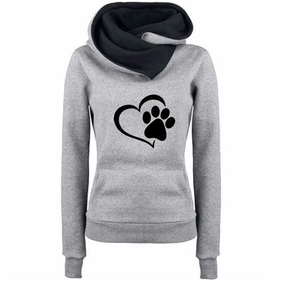Sweat-shirt Chat La Patte sur le Coeur | vraiment-chat
