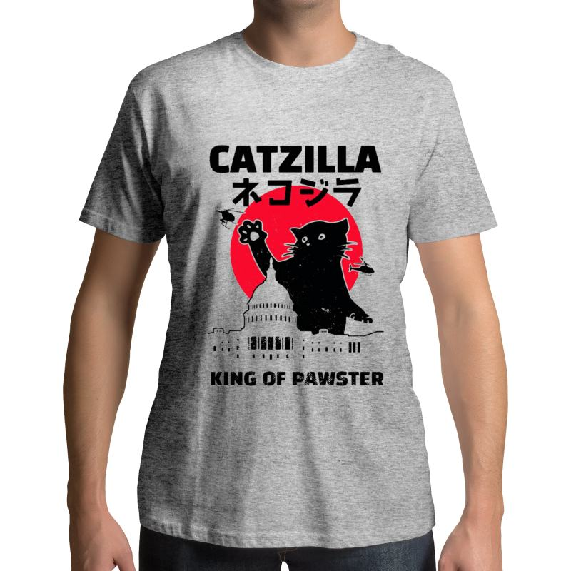 T-shirt Catzilla King of Pawsters - Vraiment-chat